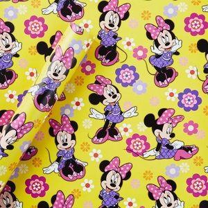 Disney Minnie Mouse Gift Wrap Yellow - Hallmark